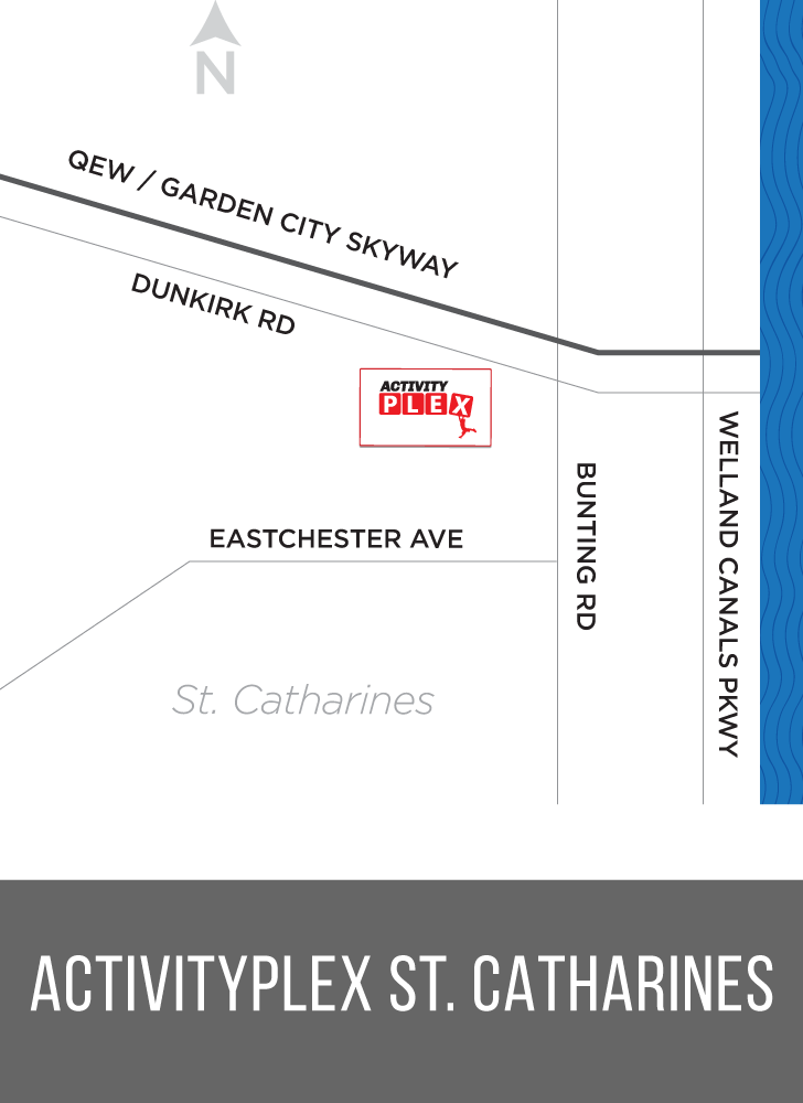 Activity Plex St.Catharines Map